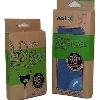 VEST - Anti-Radiation Wallet Case & Anti-Radiation Bluetooth Headset
