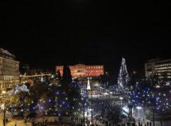 Απόψε φωταγωγείται το Χριστουγεννιάτικο δέντρο στο Σύνταγμα