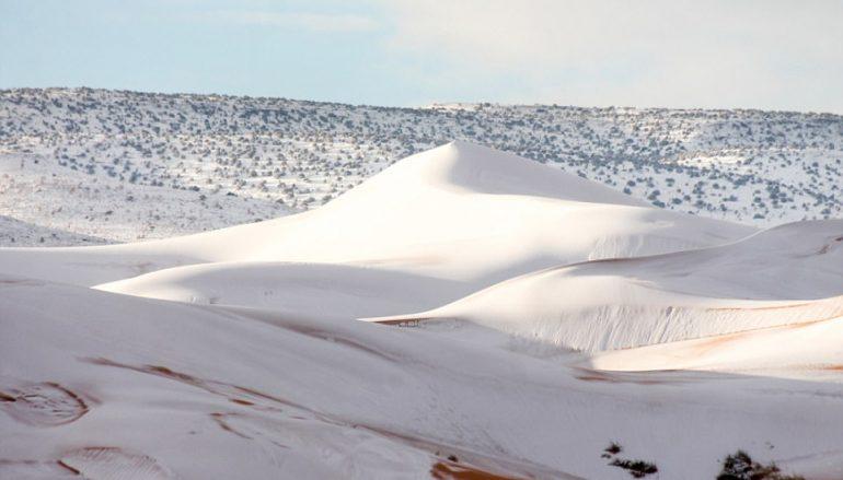Χιόνισε για τρίτη φορά μέσα σε 40 χρόνια στην Σαχάρα