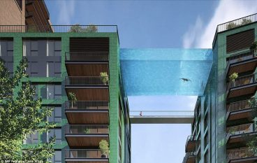 Η πρώτη εναέρια διάφανη πισίνα είναι γεγονός!
