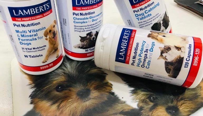 Βιταμίνες Lamberts αποκλειστικά για γατούλες και σκυλακια!