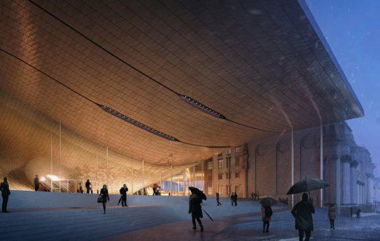 Ένα κτίριο-θαύμα που μοιάζει με την απεικόνιση του ήχου από τους συνεχιστές της Ζάχα Χαντίντ