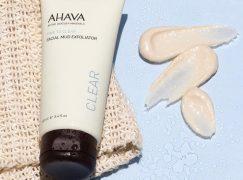Απολέπιση τώρα με Ahava Facial Mud Exfoliator